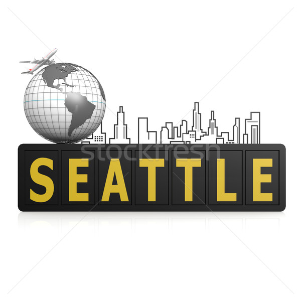 Seattle ville terre Voyage urbaine avion Photo stock © tang90246
