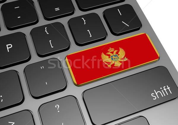 Черногория клавиатура изображение оказанный используемый Сток-фото © tang90246