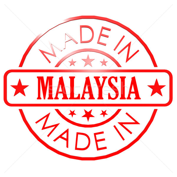 Made in Malaysia red seal Stock photo © tang90246