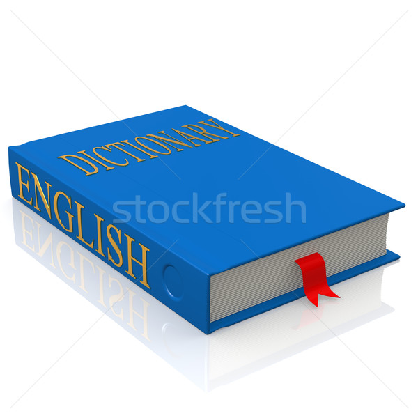 English dizionario libro scuola istruzione spazio Foto d'archivio © tang90246