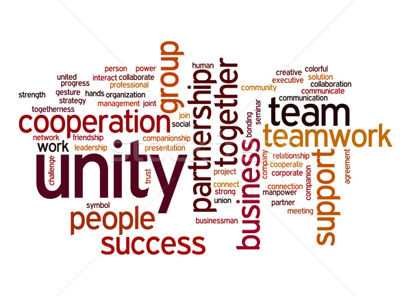 Unity word cloud Stock photo © tang90246