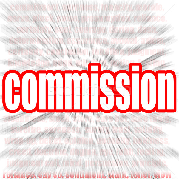 Commission word cloud Stock photo © tang90246