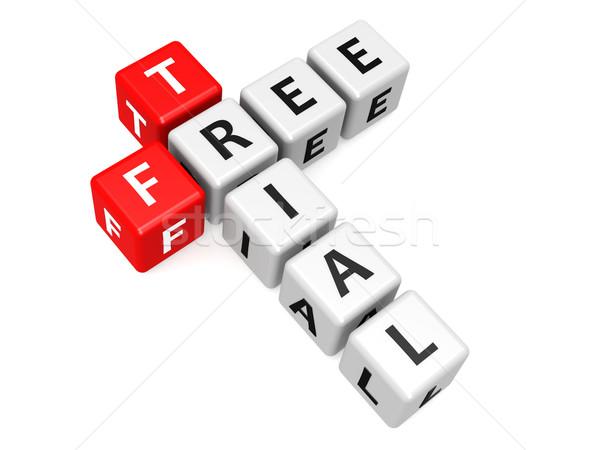 Free trial crossword Stock photo © tang90246