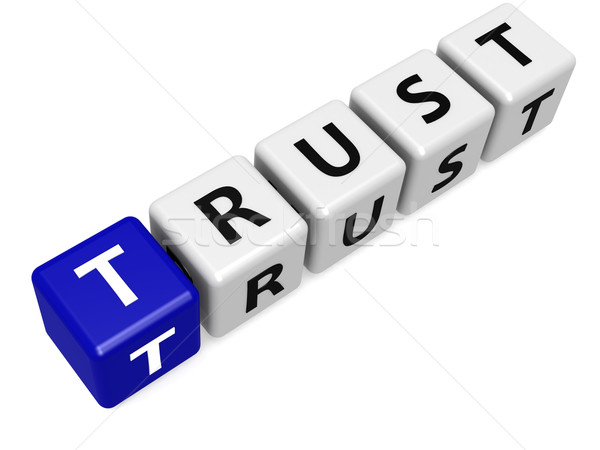 синий доверия изображение оказанный используемый Сток-фото © tang90246