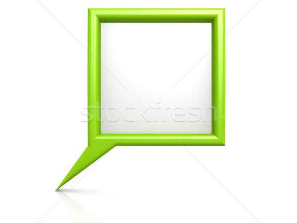 Green dialog bubble Stock photo © tang90246