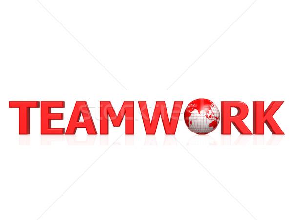 Teamwork globe Stock photo © tang90246
