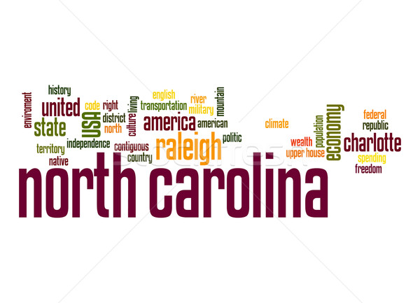 North Carolina word cloud Stock photo © tang90246