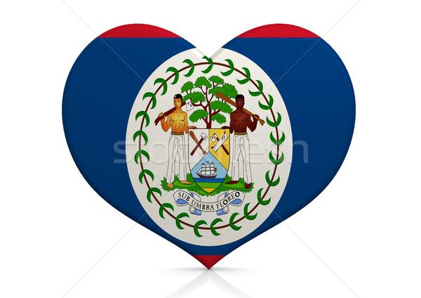 Belize szív háttér utazás vidék ötlet Stock fotó © tang90246