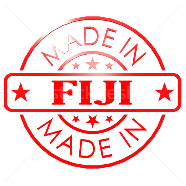 Made in Fiji red seal Stock photo © tang90246