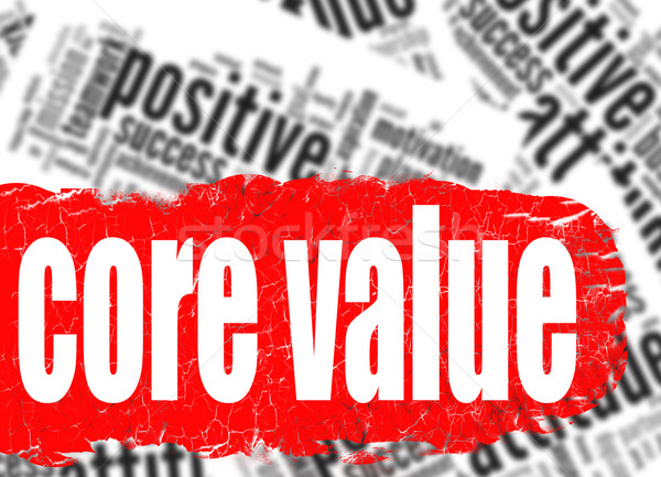 Word cloud core value Stock photo © tang90246