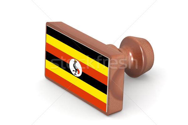 Bois tampon Ouganda pavillon image rendu Photo stock © tang90246