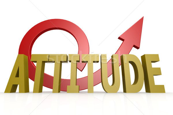 Attitude word with red arrow Stock photo © tang90246