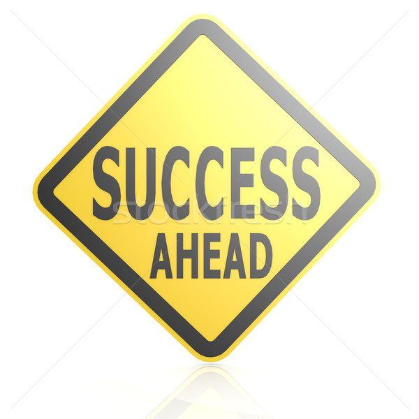 Success ahead road sign Stock photo © tang90246