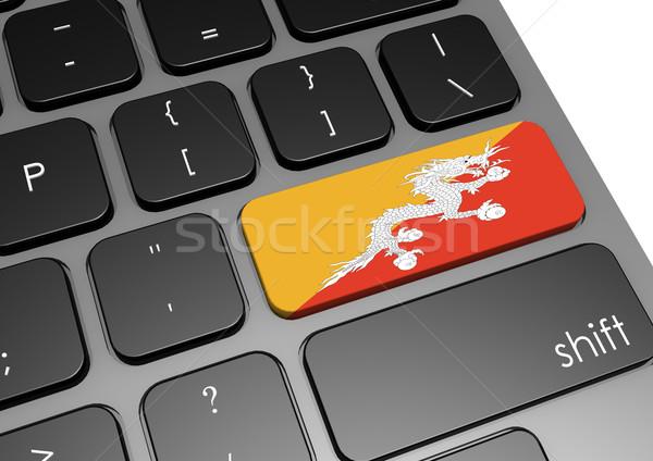 Butão teclado imagem prestados usado Foto stock © tang90246