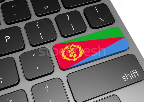 Эритрея клавиатура изображение оказанный используемый Сток-фото © tang90246