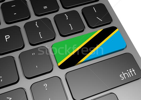 Tanzania klawiatury obraz świadczonych używany Zdjęcia stock © tang90246