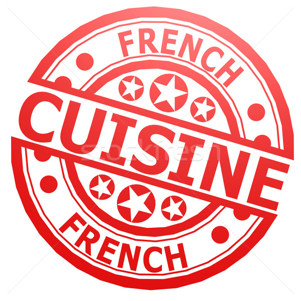 French cuisine stamp Stock photo © tang90246