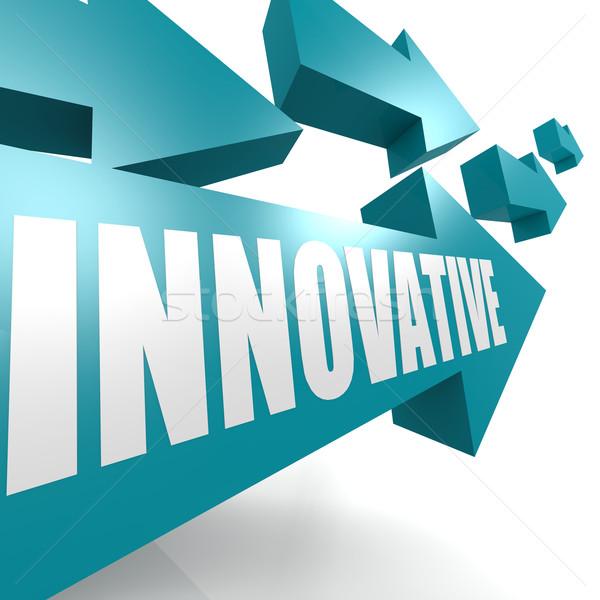 Innovative arrow blue Stock photo © tang90246