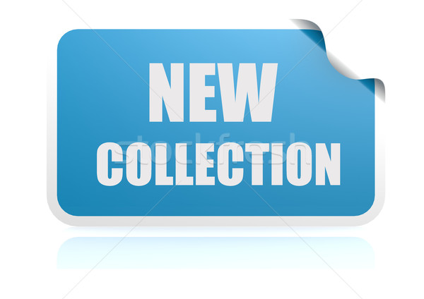 New collection blue sticker Stock photo © tang90246