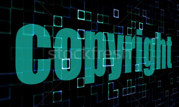 Szerzői jog szó digitális kép renderelt mű Stock fotó © tang90246