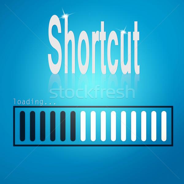 Shortcut blue loading bar Stock photo © tang90246