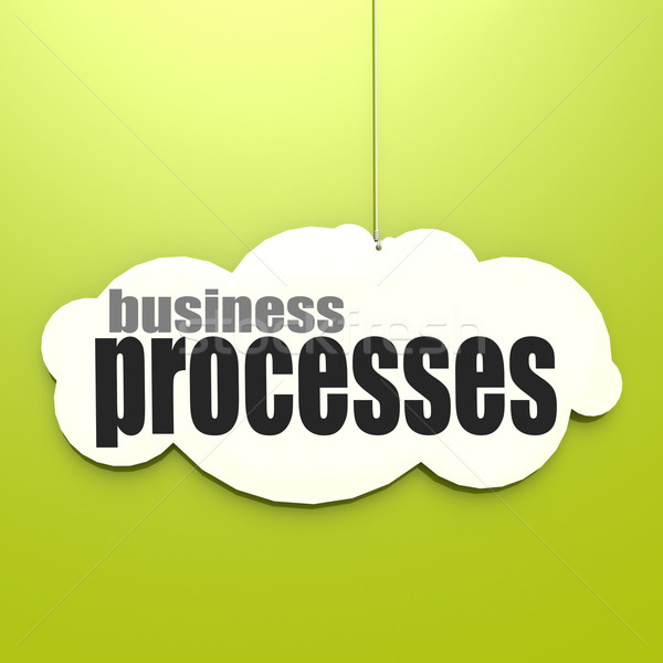 White cloud with business processes Stock photo © tang90246