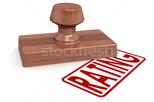 Wooden stamp rating with red text Stock photo © tang90246