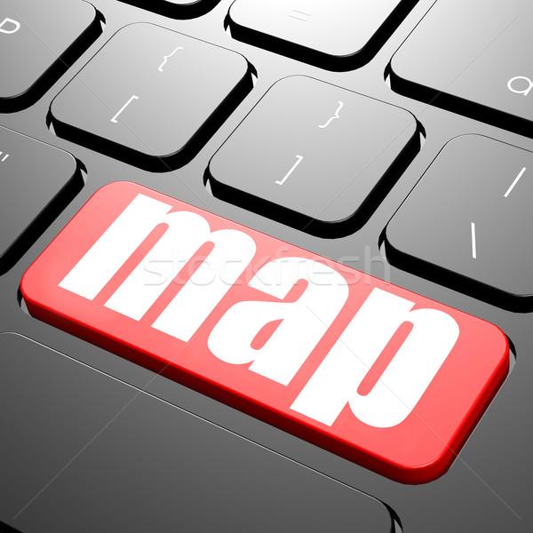 клавиатура карта текста изображение оказанный Сток-фото © tang90246