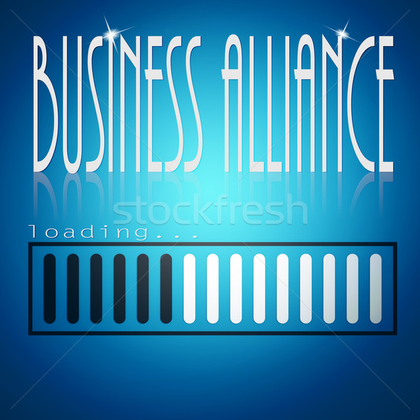 Blue loading bar with business alliance word Stock photo © tang90246