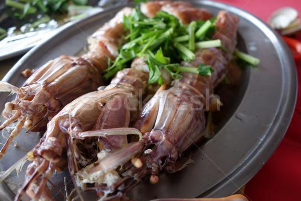 Párolt sáska Seattle fokhagyma gyömbér étel Stock fotó © tang90246