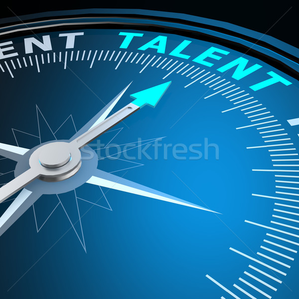 Talent word on compass Stock photo © tang90246