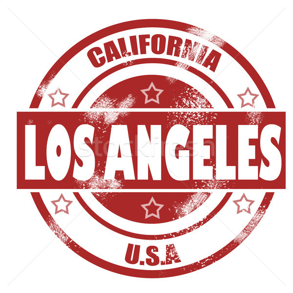 Los Angeles Stamp Stock photo © tang90246
