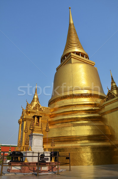 Golden pagoda in Grand Palace Stock photo © tang90246
