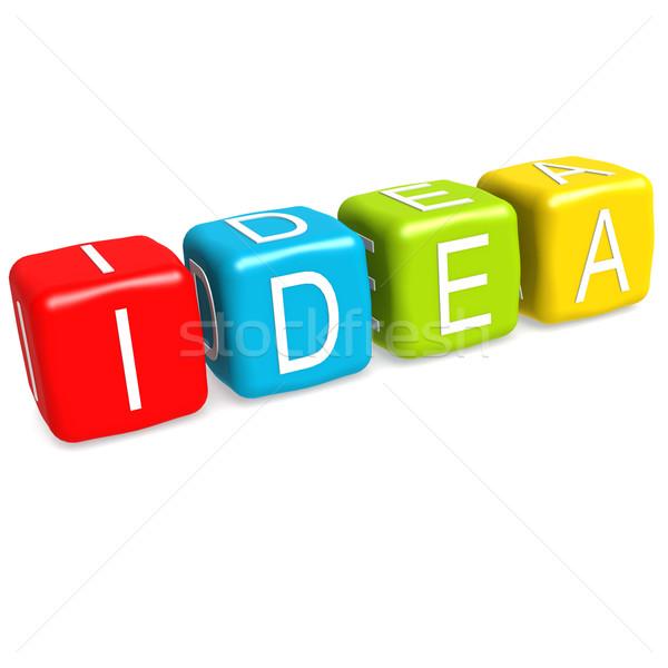 ötlet divatszó üzlet kék levél siker Stock fotó © tang90246