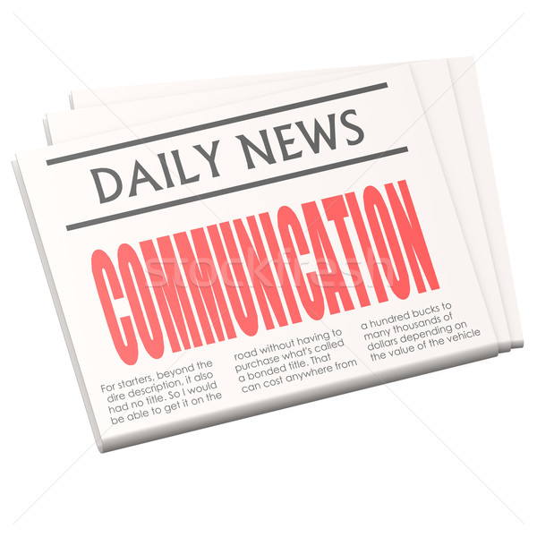 Newspaper communication Stock photo © tang90246