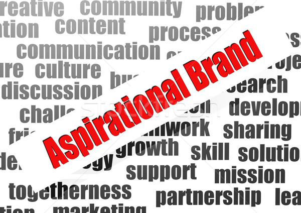 Aspirational brand word cloud Stock photo © tang90246