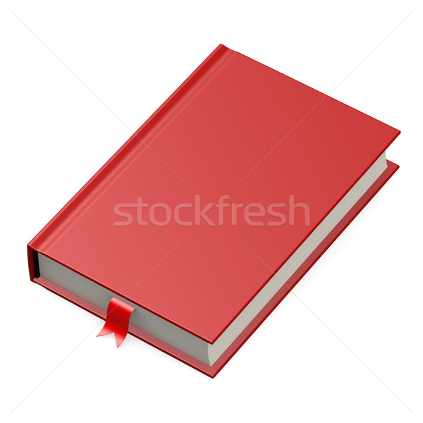 Isolated red book Stock photo © tang90246