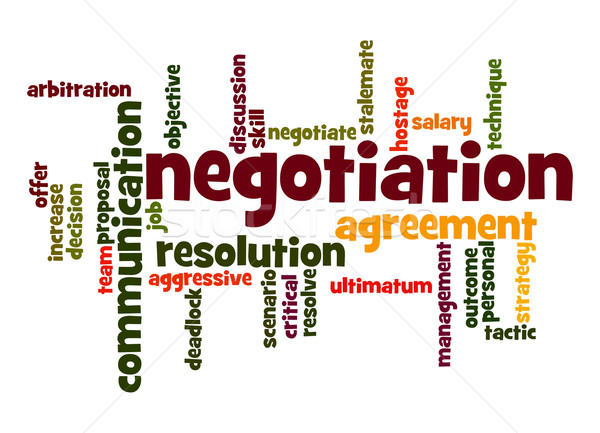 Negotiation word cloud Stock photo © tang90246