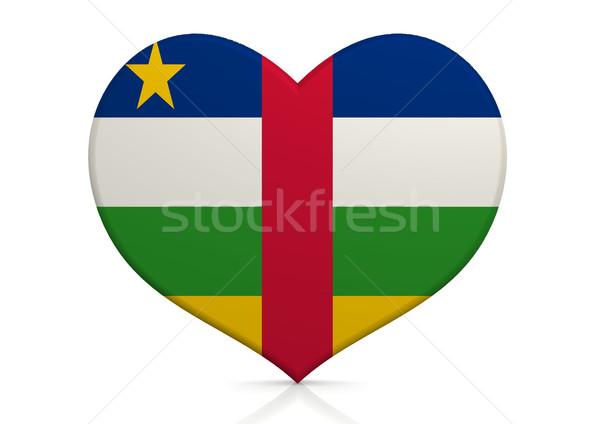 Központi afrikai köztársaság szív háttér utazás Stock fotó © tang90246
