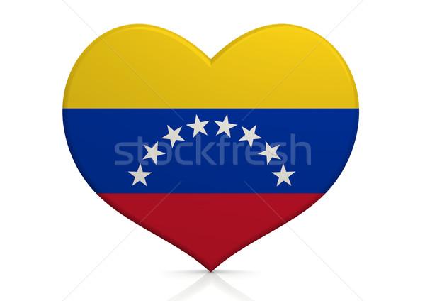 Venezuela hart achtergrond reizen land concept Stockfoto © tang90246