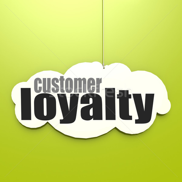 White cloud with customer loyalty Stock photo © tang90246