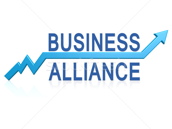 Business alliance with blue arrow Stock photo © tang90246
