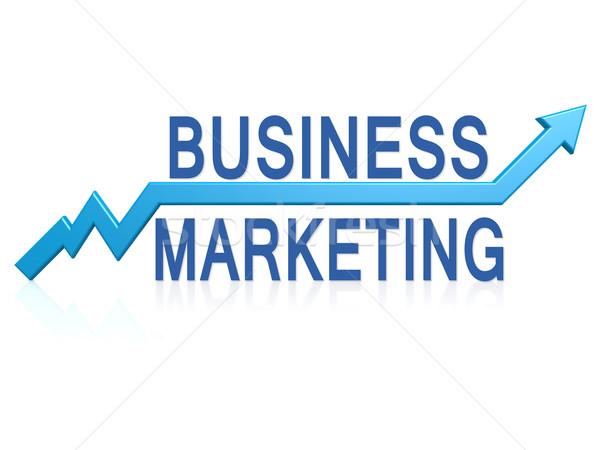 Affaires marketing bleu flèche image rendu Photo stock © tang90246