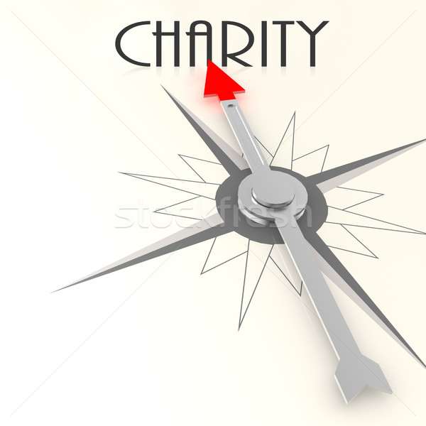 Compass with charity word Stock photo © tang90246
