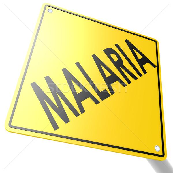 Foto d'archivio: Cartello · stradale · malaria · immagine · reso · usato