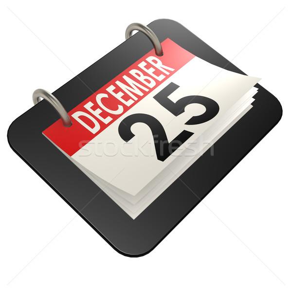 декабрь На 25 календаря изображение оказанный Сток-фото © tang90246