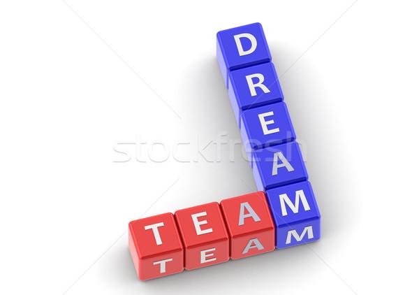 Buzzwords dream team Stock photo © tang90246