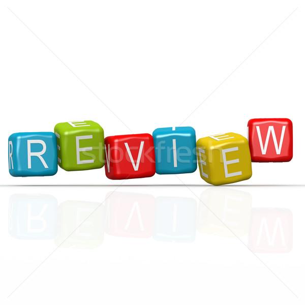Review buzzword Stock photo © tang90246