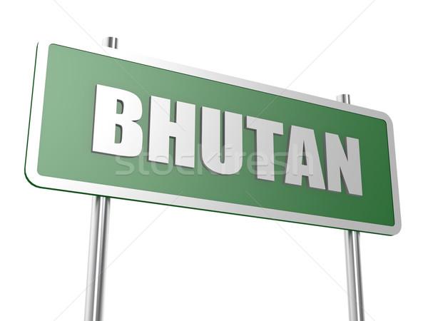 Bhutan afbeelding gerenderd gebruikt grafisch ontwerp Stockfoto © tang90246