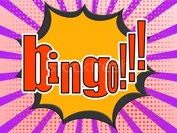 бинго комического речи пузырь изображение оказанный Сток-фото © tang90246